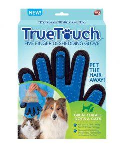масажираща ръкавица за премахване на опадала козина true touch