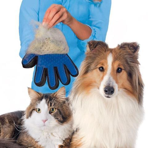 true touch – масажираща ръкавица за премахване на опадала козина